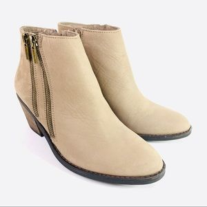 Sole Society Heeled Booties Oh Bonny Taupe Size 7M